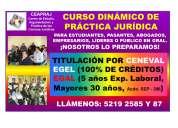 Titulación en derecho por ceneval y práctica jurídica