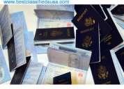 Comprar real genuinos pasaportes, visa, permiso de conducir