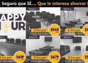 Renta de salones de conferencias desde $99 pesos col. condesa