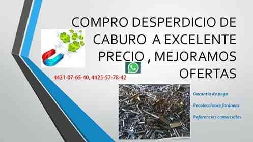 COMPRO DESPERDICIO DE CARBURO