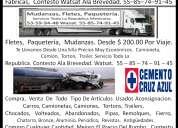 Mudanzas, fletes, paqueteria, toda la republica. watsat. 55-85-74-91-45