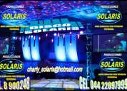 Luz y sonido *solaris* paquete # 5. para bodas,xv aÑos $8,000.00