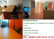 Rento oficina amueblada a 2 cuadras del m. polanco