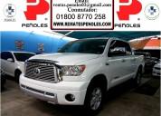 Peñoles vende toyota tundra 2012 4p ltd 5.7l aut v8 4x4 doble cab