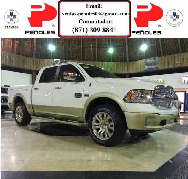Peñoles Remata Dodge Ram LongHorn 4x4 2015