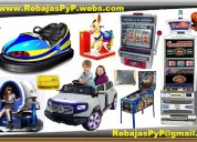 Fabrica maquinas de juegos, tragamonedas, casino, arcade, pinball, mario, bingo, carros electricos