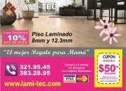 Piso laminado a bajo costo con instalación incluida lami-tec