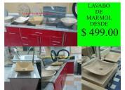 !!! preciosos lavabos en mármol a solo 499.00 !!!