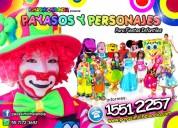 payasos y personajes para fiestas infantiles - df y edomex