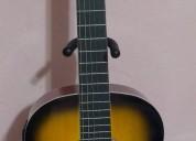 guitarra electroacustica sombreada cuerdas de nylon