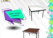 Mesas en fibra de vidrio y/o fibracel