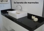 Cubierta lavabo en granito negro san gabriel $ 2990.00
