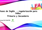 Clases de regularización de inglés