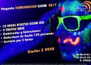 Renta de luz negra para tus glow party