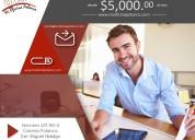 Renta de oficinas amuebladas desde $5000 al mes.