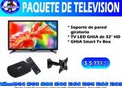 Paquete de smart tv box, soporte y tv