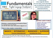 cursos de ingles para todo nivel; fundamentals, english language development