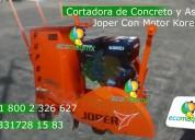 Cortadora de piso para concreto y asfalto con motor 9 hp korei