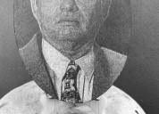 Granito fotografia incrustada blanco y negro para lapida