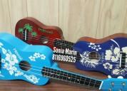 Variedad de ukuleles nuevos