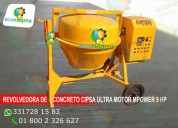 Revolvedora de concreto cipsa ultra 10 motor 9 hp mpower
