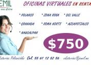 Oficinas virtuales en el sur de la ciudad de méxico
