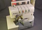 Se  vende maquina de coser overlock 4 hilos  simplicity