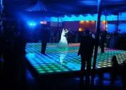 Pista de baile en renta (iluminada, madera y combinadas)