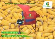 Desgranadora de maíz con motor 2 hp electrico