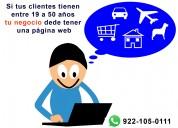 Diseño de paginas web para negocios en coatzacoalcos y minatitlán