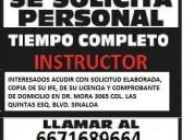 Instructor en autoescuela culiacan