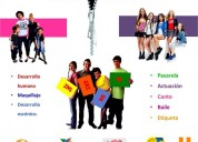 clases/cursos de verano actuacion personalidad canto baile todo en un paquete x un costo y