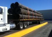 Transporte de carga en plataformas de rabon,torton y trailer