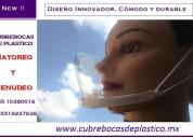 """Cubrebocas de plastico transparentes acapulco  """" la mejor opcion para trabajar """""""