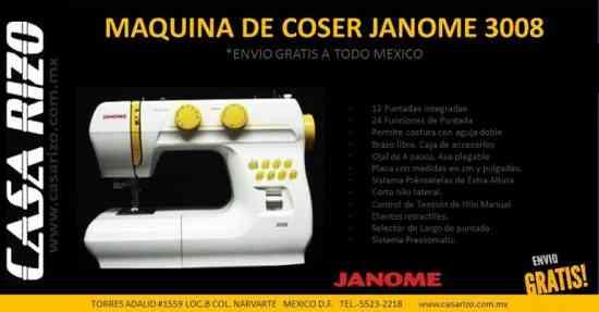 Máquina de coser Janome 3008 :: Nuevas