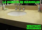 Cubierta y barra de marmol desde $ 990.00 metro lineal