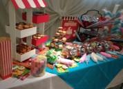 Mesa de dulces snacks