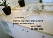Marmol crema marfil importado cubierta lavabo $ 1980.00