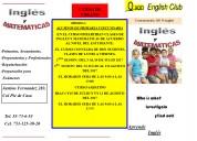 Curso de verano ingles y matemÁticas para alumnos de primarias y secundarias