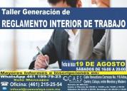 Taller generación de reglamento interior de trabajo