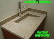 *** preciosas cubiertas con lavabo en marmol ***