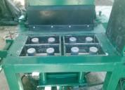 Maquina para hacer ladrillo tipo lego ecologico de cuatro cavidades