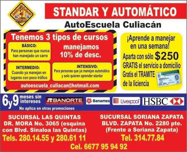 Cursos de manejo en Culiacan