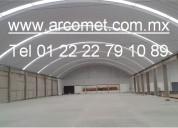 Arcotechos metÁlicos,techos de lamina,techos semicirculares, techos de medio punto