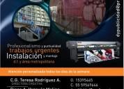 Instalacion de publicidad de vinil y recorte de vinil