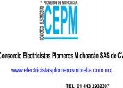 Consorcio electricistas plomeros michoacan sas de cv
