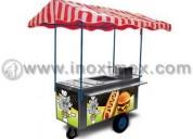 Carrito para hot dogs y hamburguesas mod. inox-170