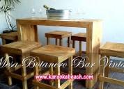Renta de mobiliario fiesta salas de madera vintage en monterrey