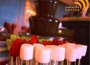Renta de fuente de chocolate para tus bodas