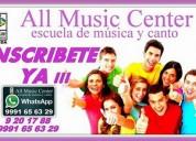 Inscripciones abiertas - escuela de música y canto